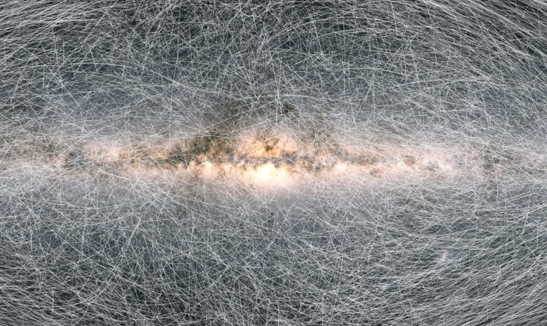Path of 40 thousands stars over the next 400 thousands years